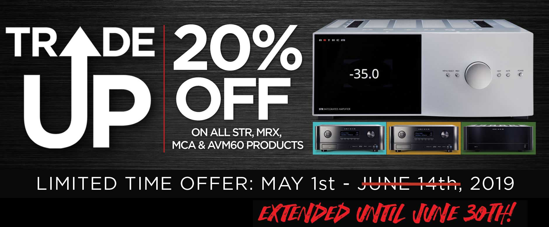 TRADE UP to Anthem® A/V Processors, Receivers or Amplifiers